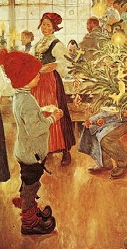 carl larsson nu är det jul igen triptych details