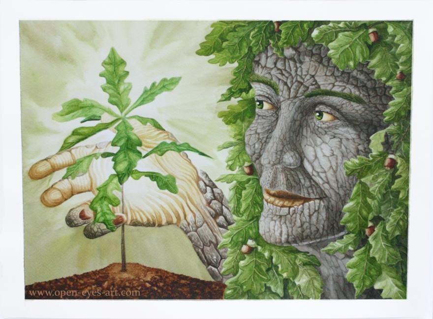Oak dryad